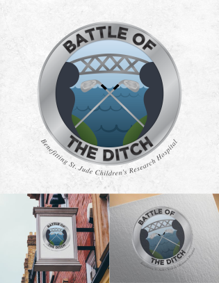 "A logo design for ""Battle of the Ditch,"" a charity golfing event which pitted teams from either side of the Intracoastal Waterway (""The Ditch"") against each other in fun rivalry."