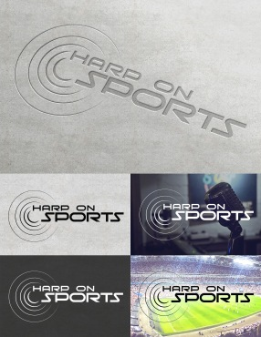 A logo created for Harp On Sports, a sports talk radio show hosted by Seth Harp.