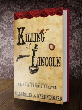 "A mock-redesign for the cover of Bill O'Reilly's book,""Killing Lincoln."" This design took a departure from the floating heads used in the book's official publication in favor of a creative typography concept."