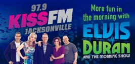 "A digital billboard created for Jacksonville's 97.9 KISS FM, this design was meant to raise brand awareness for the station's ""Elvis Duran and the Morning Show"" programming."