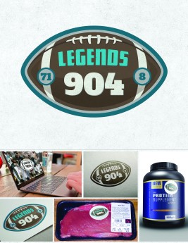 Logo design for Legends 904, an endorsement brand touting the approval of legendary Jacksonville sports figures.