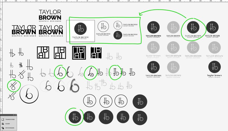 Logo Design Process Snapshot
