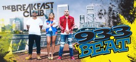 "A digital billboard created for Jacksonville's 93.3 The Beat Jamz, this design was meant to raise brand awareness for the station's ""The Breakfast Club"" programming."