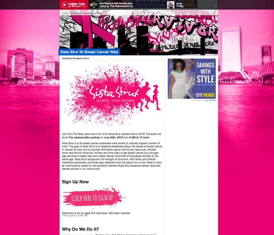 SistaStrut_MainPage_Screenshot